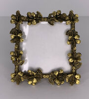 Antique Brass Art Nouveau Gresco HIBISCUS Flower Frame Square