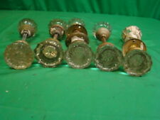 LOT OF 5 SETS (10 KNOBS) GLASS CRYSTAL ANTIQUE ART DECO DOOR KNOBS b