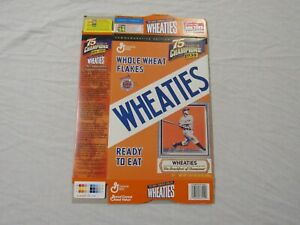 Lou Gehrig New York Yankees 75 Years Champions Wheaties Cereal Box (Flat) 1999