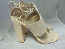 Tie Ankle Strap Block Heels Nude UK6 EU39 JS27 23