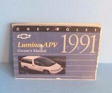 91 1991 Chevrolet Lumina APV owners manual
