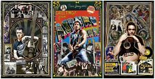 "Strummer, Springsteen, & Cash w/ guitars - set of THREE11x17"" posters - signed"