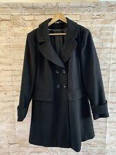 M&S Women's Black Button Up Coat Size 18