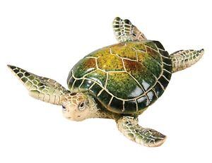 Coastal Green Sea Turtle Tier Tray Tabletop 6 Inch Figurine