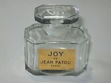 "Vintage Jean Patou Joy Perfume Bottle 1/2 OZ  - Open - Empty - 2"" Height"