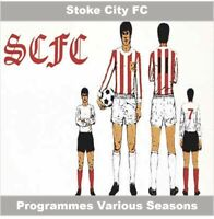 Programme Stoke City Football Club Victoria Ground Home Programmes - Various