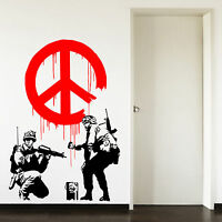 Banksy Propaganda Peace Symbol Living Room Hallway Vinyl Wall Art Sticker Decal