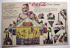 Rare Vintage 1932 Coca-Cola Circus Cutout Promotional Premium -- Uncut!