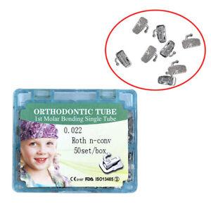 Dental Orthodontic 1st molar Tube Roth Buccal Tube Bonding 0.022 Single Tube