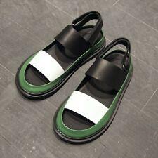 Mens Open Toe Match Color Slip On Roman Gladiator Sandals Shoes Breathable Vogue