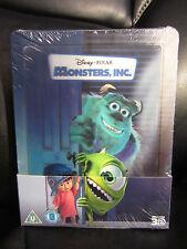 Monsters Inc. Lenticular 3D Blu-Ray Steelbook [UK] Region Free Disney *Read*