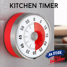 Kitchen Timer 8CM Oven Mechanical Timers Visual Counter Time Magnetic 60 Minutes