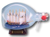 SS Great Britain model in glass dimple bottle