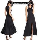 Vestito Lungo Donna con Spacco Davanti Bianco e Nero Woman Maxi Dress 110247