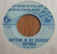Judy Layne ~ Rythm In My Nursery Rhymes / I Just Cant Forget Him ~ (VG+) V Rare