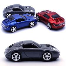UK 2.4GHz Wireless 1600DPI 3D Porsche Car Shape Gaming Mouse Red/Blue/Grey
