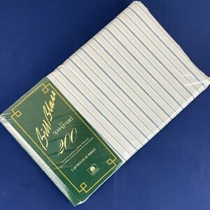 NIP Vtg Bill Blass Springmaid No Iron Percale Queen Flat Sheet Centennial Stripe