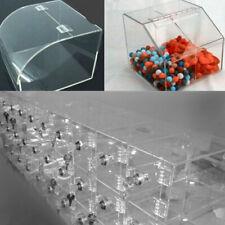 Stock 12pcs Clear PMMA Acrylic Plastic Folding Plexiglass Hinge 45 x 38mm