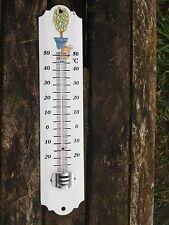 THERMOMETRE EMAILLE 25 cm Arbre en pot EMAIL VERITABLE 800°C NEUF FAB. EN FRANCE