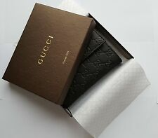 BNIB WOMENS/LADIES/GIRLS GUCCI LEATHER GG GUCCISSIMA WALLET/PURSE IN BLACK
