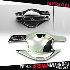 FIT FOR NISSAN NAVARA D40 2005-2013 CHROME HANDLE BOWL COVER DOUBLE CAB 4 DOORS