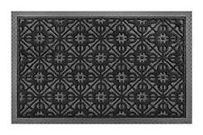 Front Door Mat Large Area Rugs Outdoor Indoor Entrance Doormat Charcoal Black By