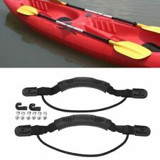 2PC Kayak Canoe Boat Side Mount Carry Handle With Bungee Cord Screws Accessories