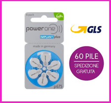 60 batterie pile Powerone power one 675 cocleari protesi impianto cocleare