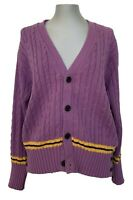 NEW & LINGWOOD UNISEX LAVENDER COTTON CARDIGAN SWEATER, L/XXL, $495