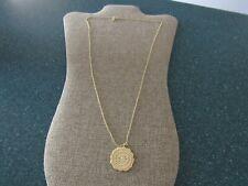 Gorjana Mosaic Coin Necklace long Pendant Necklace 18k gold-Plate