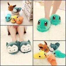 Pokemon Go Soft Pikachu Shoes Costume Plush Slippers Warm Indoor Home Adult   wjj d1e07a7ba0
