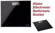 Sabichi Digitale in Vetro da Bagno Scala Noir con Power & Indicatori di sovraccarico - 150kg