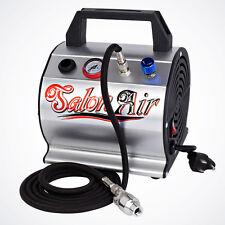 NEW PRO Airbrush Compressor Wtih Mini Air Filter Hose Brush Holder Hobby Artwork