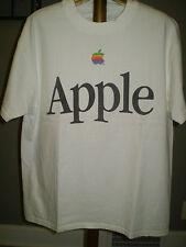 Apple Multicolored Rainbow Logo Tee Shirt - Large