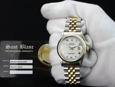 ROLEX - 36mm 18kt GOLD & Stainless Steel DateJust White Roman 16233 - SANT BLANC