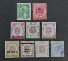 nystamps British Malaya Perak Stamp # 20//O11 Mint OG H / Used $32