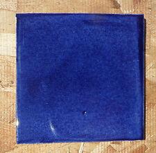"10~Talavera Mexican 4"" tile kiln fired COBALT MONET Medium washed darker Blue"