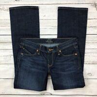 Old Navy Diva Jeans Size 4 Short Dark Wash Bootcut Stretch Denim