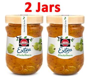 2 Jars SCHWARTAU GOOSEBERRY PRESERVE 2x340g, most popular jam in Germany