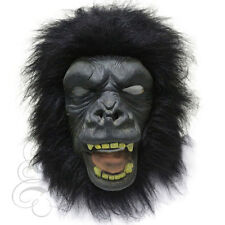 Latex Animale GORILLA APE FAMOSO Forest Jungle Abito UP CARNIVAL Prop Party Mask