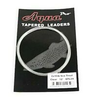 AquaPro, Tapered Leaders, Brown Rainbow Trout Grayling Fly Fishing Leader Tippet