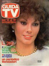 rivista  GUIDA TV ANNO 1981 NUMERO 37 EDWIGE FENECH