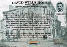 DAVID WILLS HOUSE Historic Wood Relic Abraham Lincoln Gettysburg * Civil War