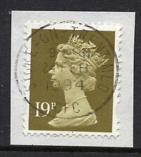 GB = QE2 Postmark - `STOKE-ON-TRENT MLO (CFC)` 1994 Single Ring cancel.