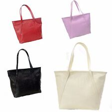 Designer Womens Faux Patent Leather Large Style Tote Shoulder Handbag Satchel