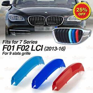 Für BMW 7er F01 F02 LCI 13-16 KÜHLERGRILL GRILL ABDECKUNG M Tech FARBEN STREIFEN