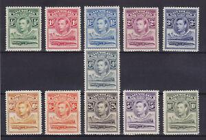 BASUTOLAND 1938,  SG 18-28,  MLH