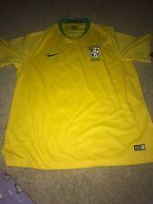 Men's NIKE Dri Fit Shirt Jersey BRAZIL SHORT SLEEVE FOOTBALL SOCCER 10 NEYMAR