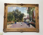 Claude Monet Artist's  At Argenteuil Oil Painting on Canvas Signed 40 X 50