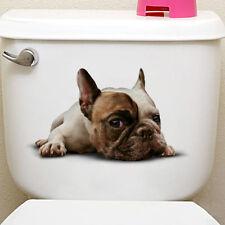 Cute 3D French Bulldog Laying Down Toilet Sticker Dog Puppy Bathroom Decor Decal